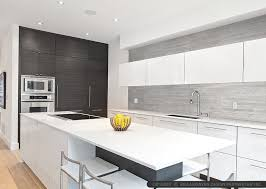 MODERN KITCHEN Backsplash Ideas Black Gray Tiles - Modern backsplash