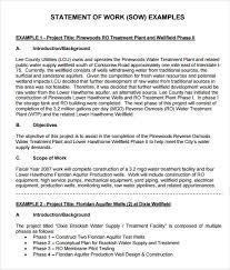 sample statement of work u2013 8 example format