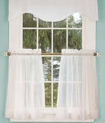 Thermal Cafe Curtains Cotton Voile Tier Curtains 29 95 36 95 Window Treatments