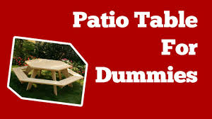 how to build a patio table u2022 easy patio table plans u2022 woodworking