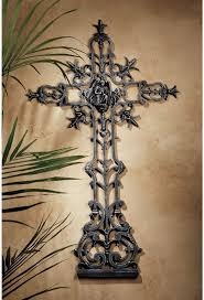wall decor crosses design toscano the veneration crosses angel of peace cross