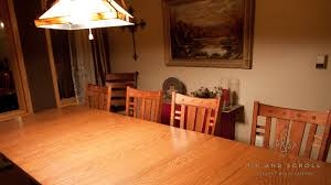 Arts And Crafts Dining Room Set Oak Dining Table Pinandscroll Com