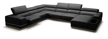 modern black and white leather sectional sofa casa chrysanthemum modern black leather sectional sofa