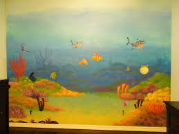 Ocean Wall Decals For Nursery by Finding Nemo Wall Mural In Nursery Painted Ocean Combined With