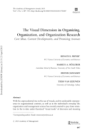 am agement chambre b the visual dimension in organizing pdf available