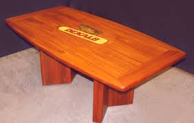 Mahogany Boardroom Table Custom Inlaid Solid Wood Conference Tables