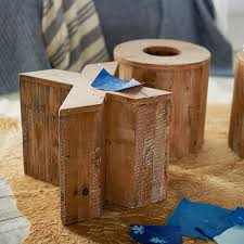 Wood Block Side Table Letter Side Table Pbteen