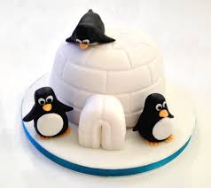 penguin cake the fondant fancy