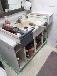 Paint Laminate Vanity Bathroom Update How To Paint Laminate Cabinets U2014 The Penny Drawer