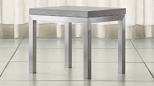 concrete top bar table parsons concrete top stainless steel base 20x24 end table reviews