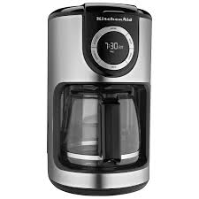 kitchenaid 12 cup glass carafe coffee maker kcm1202ob black