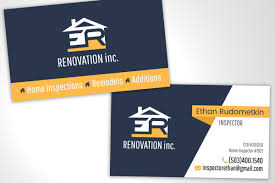 business card for home inspector arkie media