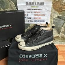 Jual Sepatu Converse Varvatos jual converse x varvatos center zip black leather original new