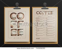 coffee shop menu template coffee shop menu template menu mock stock vector 717562519