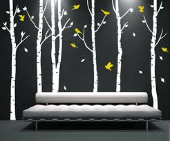 compare prices on tree wall stickers yellow online shopping buy personalized tree birds vinyl wall sticker mural removable room decorative large white tree yellow birds wall decals