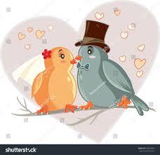 love birds cartoon vector illustration vector stock vector