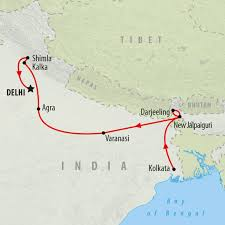 India On A Map Railway Tour Of India In 15 Days On The Go Tours Au