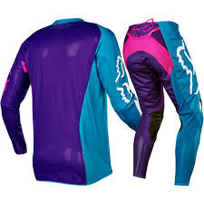 kids motocross gear combo fox racing 2017 kids mx new 360 creo teal purple pink youth