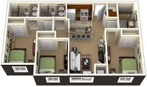Floor Plan 3 Bedroom House by Home Design 89 Amazing 3 Bedroom House Plans