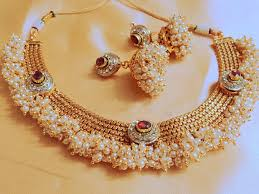 jewellery pearl necklace images Kundan pearl neckalce set arts jpg