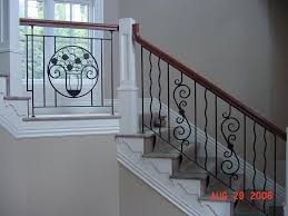Iron Grill Design For Stairs Stair Marvelous Home Interior Stair Design Using Solid Cherry