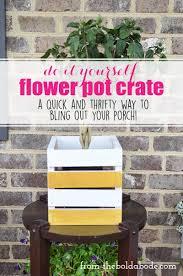 diy flower pot crate