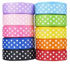 bulk dots ribbon supplier 100yards 5 8 16mm polka dots grosgrain