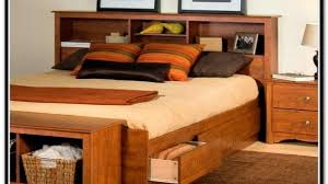 incredible prepac platform storage bed w bookcase headboard oj