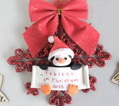 baby u0027s 1st christmas ornament penguin bunny penguin or o u2026 flickr