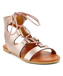 eddie marc kids tan lace up wedge sandal zulily