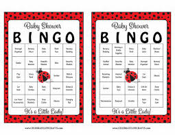 ladybug baby shower game download for baby bingo