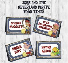 jake and the neverland pirates birthday invites disney jake and the neverland pirates birthday food tent label