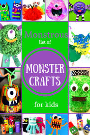 monstrous list monster crafts kids fantastic fun u0026 learning