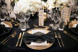 Gold Table L 100 Gold Table Setting Purple Black U0026 Gold Tablesetting Nurani