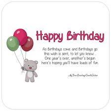 happy birthday cute animated bear card with balloons facebook