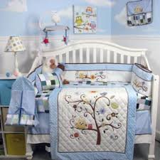 Boy Owl Crib Bedding Sets Toddler Boys Owl Crib Set Blue Minky Plaid Nursery Bedding Decor