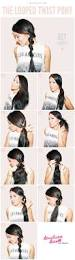 the 25 best twist ponytail ideas on pinterest simple updo easy