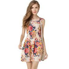 sun dress dresses floral casual 2017 summer dress chiffon flowers party