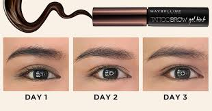 tattoo eyebrows by maybelline this brow tint lasts for 3 whole days beautymnl