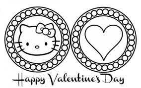 cute hello kitty valentines day coloring pages valentine