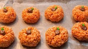 rice crispy treat pumpkins rice krispie treat pumpkins