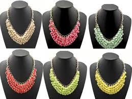 beads necklace wholesale images Turquoise chunky multi layers bubble bib statement necklace jpg
