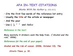 apa format online article no author apa citation format article citation format article apa style best