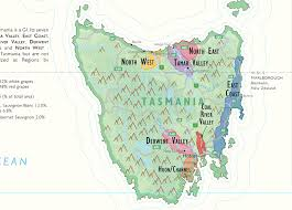 map of tasmania australia wine map of australia
