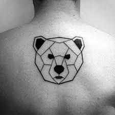 tattoo geometric outline 40 geometric back tattoos for men dimensional ink ideas