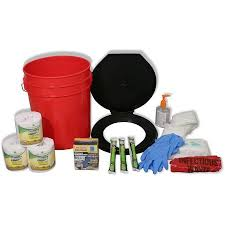 ready america lockdown toilet bucket kit 4 10 persons walmart com