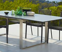 cane line edge extendable dining table outdoor