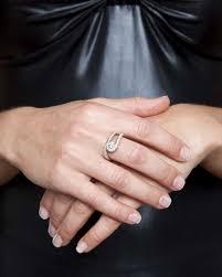 unique engagement ring settings 0 5ct white gold unique twisted semi bezel set engagement ring