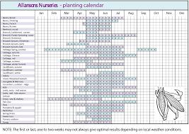 garden planting calendar landscaping u0026 backyards ideas