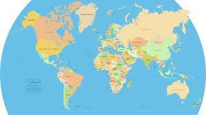 world map by continents world map by continent and country